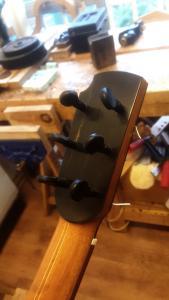 Baritone guitar, by Frank Tate (headstock detail)