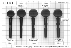 Cello peg dimensions