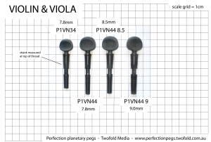 Violin peg dimensions
